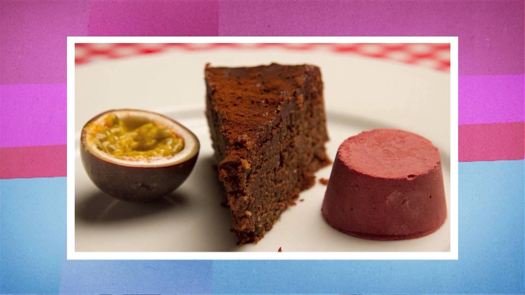 Gateau Chocolat-Fruit de la passion, Semifreddo der roten Beere
