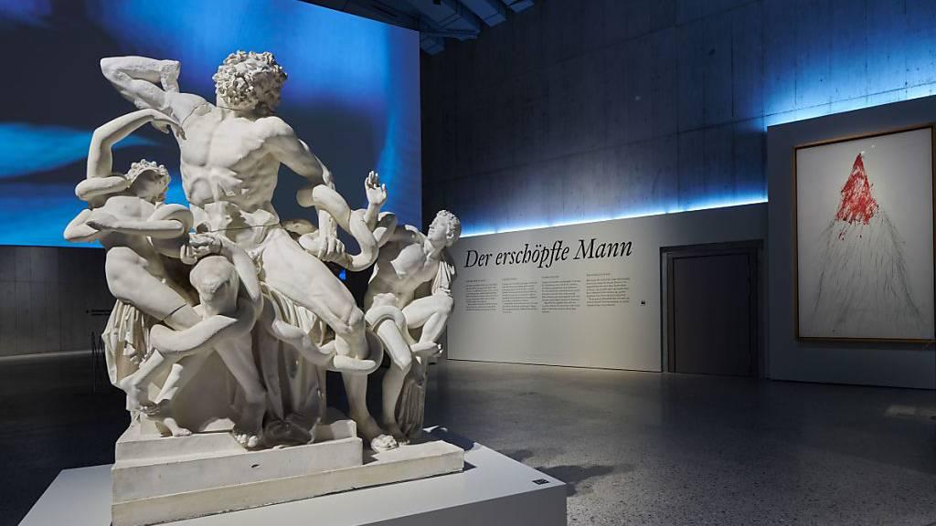 Der Todeskampf des Laokoon eröffnet die Ausstellung im Landesmuseum Zürich über «erschöpfte Männer».