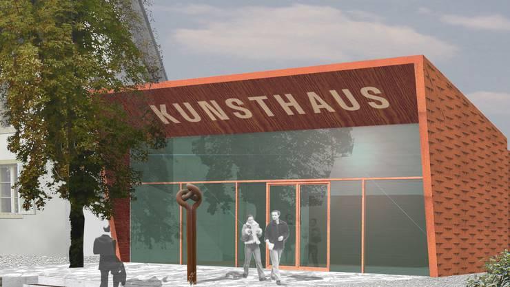 Diese im Juni 2006 erschienene Visualisierung zeigt den Erweiterungsbau für das Kunsthaus, so wie ihn Stäuble Architekten entwarfen.