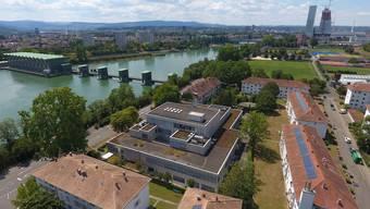 In diesem Gebiet plante auch schon der Kanton Hochhäuser: Blick auf Basel Ost mit dem Areal von Basilea Pharmaceutica in der Bildmitte.