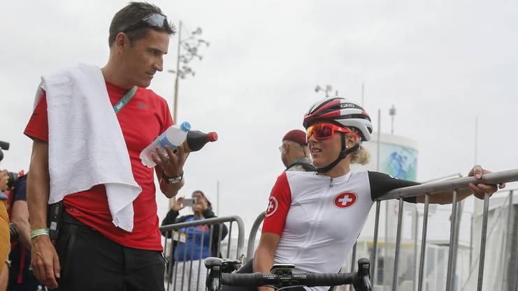 Patrick Noack an den Olympischen Spielen in Rio im Gespräch mit Jolanda Neff.
