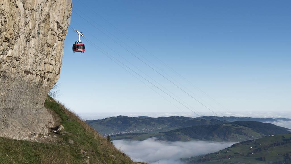 Alpstein-Bergbahnen transportieren über eine Million Wanderer