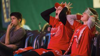 Mitfiebern vor dem Fernsehen. Hier beim Davis Cup Final 2014.
