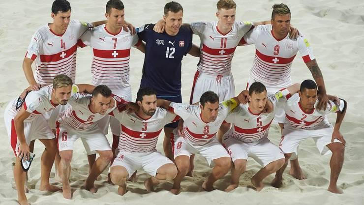 Die Schweizer Beach-Soccer-Nationalmannschaft an der WM auf den Bahamas