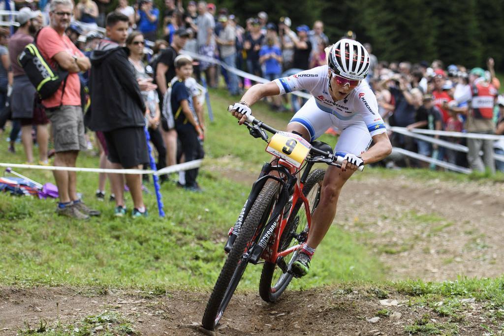Thaler Mountainbikerin Jolanda Neff (© KEYSTONE)
