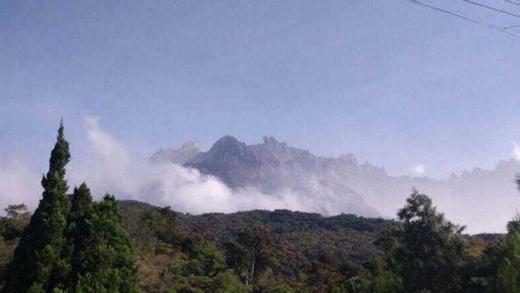 Beim Mount Kinabalu, dem höchsten Berg Malaysias, bebte die Erde