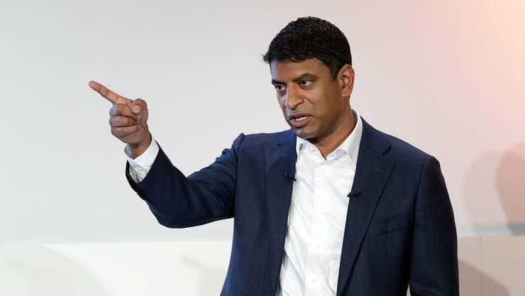 Ob sich Novartis vom US-Geschäft trennen wird, liess Konzernchef Vasant Narasimhan offen.