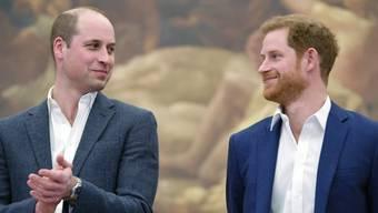 """Die britischen Prinzen William und Harry sind empört über die """"Falschmeldung"""" einer britischen Zeitung über ihre Beziehung. (Archivbild)"""