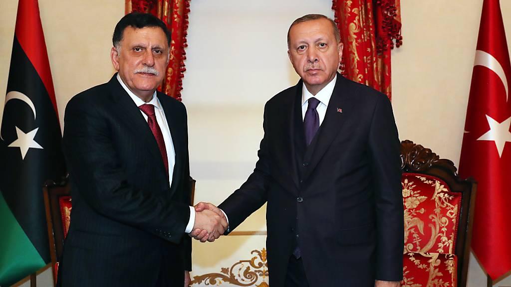 Spannungen im Mittelmeer - Erdogan empfängt Libyens Regierungschef