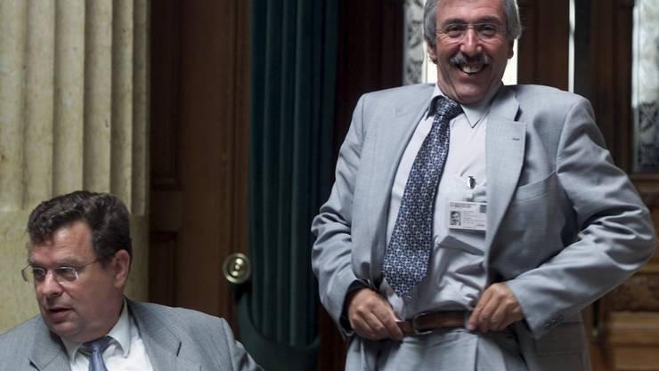 Toni Bortoluzzi (SVP, ZH) und Roland Borer (SVP, SO) 2002 im Nationalrat.