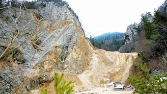 Zankapfel: Die Bürgergemeinde braucht die Einkünfte aus dem Steinbruch, der Kanton bewilligt keine weitere Abbauetappe. Felix Gerber