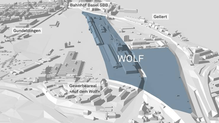 Visualisierung des Areal Wolf