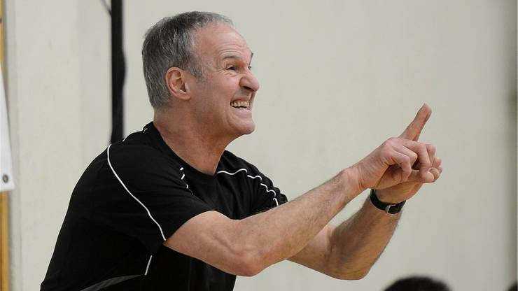 Wolfgang Boehme, Trainer TV Moehlin zieht eine ernüchternde Bilanz nach der klaren Niederlage.
