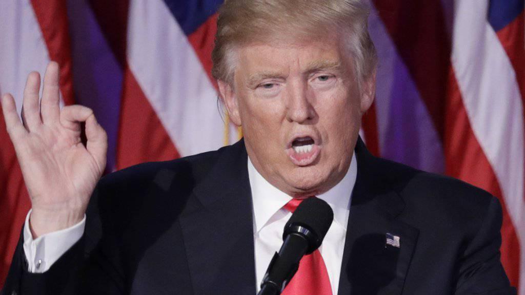 Handelskriege als Folge der Wahl von Donald Trump zum US-Präsidenten wären schlecht für die Schweiz. (Archiv)
