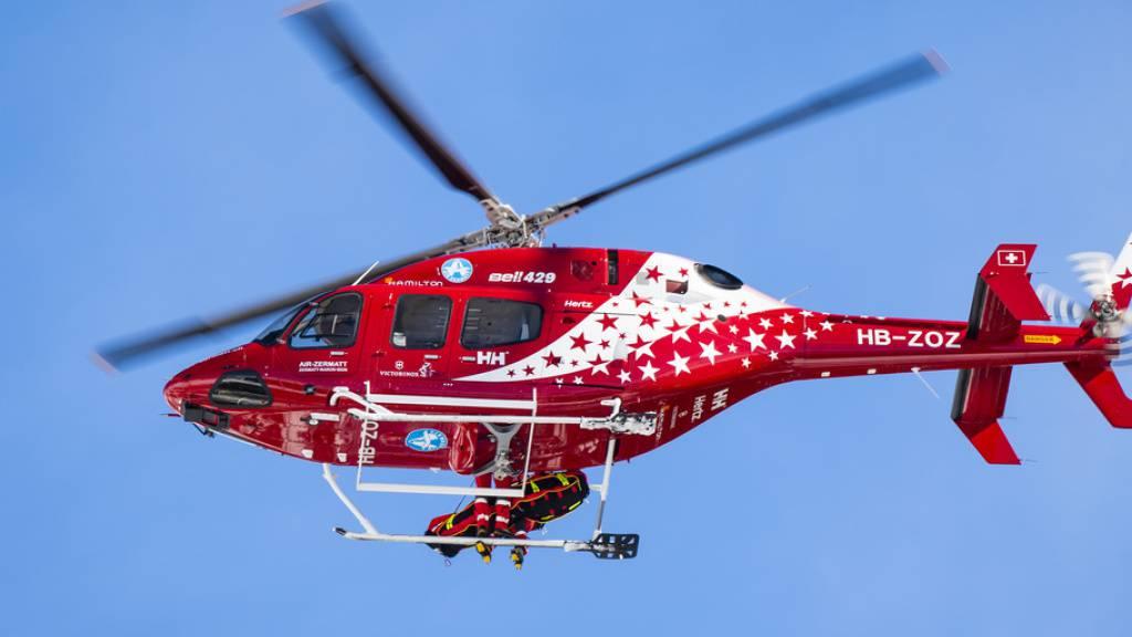 Die Helikopter von Air Zermatt und Air-Glaciers waren über das Osterwochenede praktisch ununterbrochen im Einsatz.