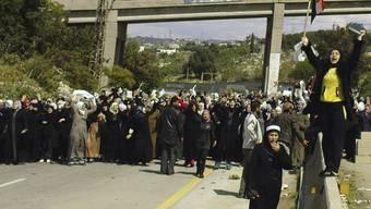 Syrische Frauen fordern die Freilassung ihrer Ehemänner (Archiv)