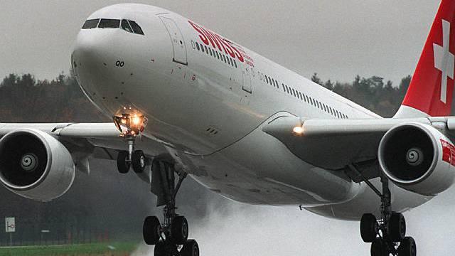 Erst nach dem Groundign konnte die Swiss(air) wieder abheben