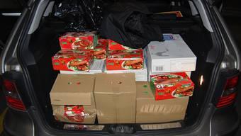 Der Kofferraum war voll mit Schmuggelfleisch.