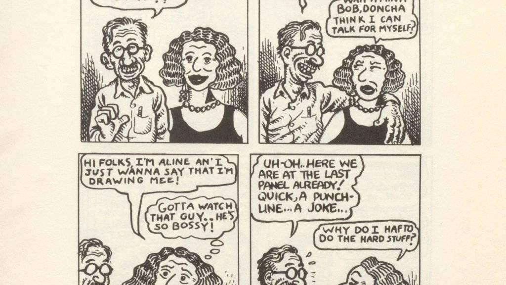 Wenn Comic-Zeichner sich selber zeichnen und dabei übers Zeichnen und sich selber Witze reissen, dann kommt etwas heraus wie der Crumbs Familienportrait - zu sehen im Basler Cartoonmuseum.