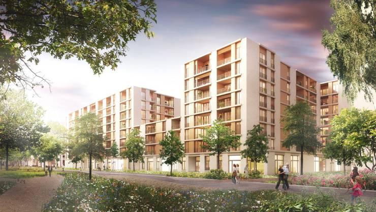 Bei neun der insgesamt 202 geplanten Wohnungen werden die Grenzwerte der Lärmbelastung nicht eingehalten.