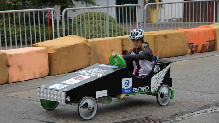 Auch dieses Jahr wird es am Dorffest Günsberg ein Seifenkistenrennen geben.