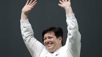 Heidi Diethelm Gerber freut sich in Wroclaw über ihre zweite EM-Medaille (Archiv)