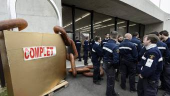 Protest der Gefängniswärter von Champ-Dollon im April