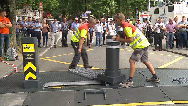Mobile Anti-Terror-Poller an Oltner Chilbi ersetzen die bekannten Betonblöcke