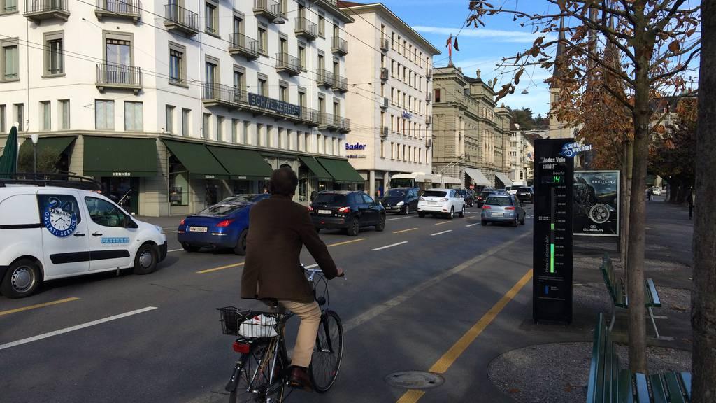 Über 50 Velofahrer in der Stadt Luzern gebüsst