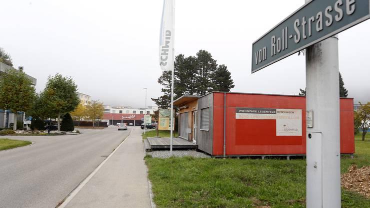 Der Infopavillon beim Wohnpark Leuenfeld wäre eine Option für ein Provisorium, bis ein neuer Kindergarten zur Verfügung steht.