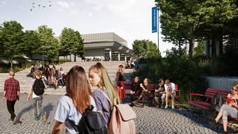 Zwischen 2023 und 2032 ziehen Zürcher Kantonsschülerinnen und -schüler im Campus Irchel ein.