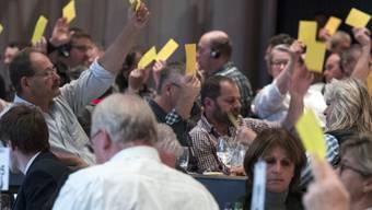 Die Delegierten des Schweizern Bauernverbands stimmen für eine Resolution, die mehr Stabilität in der Agrarpolitik fordert.