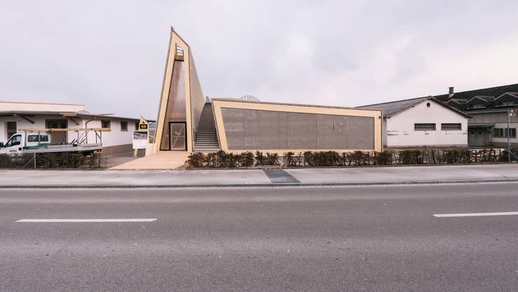 Der Pavillon für den Innovationspark wurde schon 2018 gebaut. Nun ist das Projekt auf Eis gelegt.
