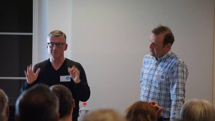 Von links: Präsident Martin Villiger, Co-Geschäftsführer Ruedi Aschmann.