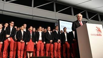 Empfang des SwissSkills-Teams in Zürich