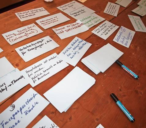 Die Ideen sind auf dem Tisch, jetzt werden sie ausgewertet.