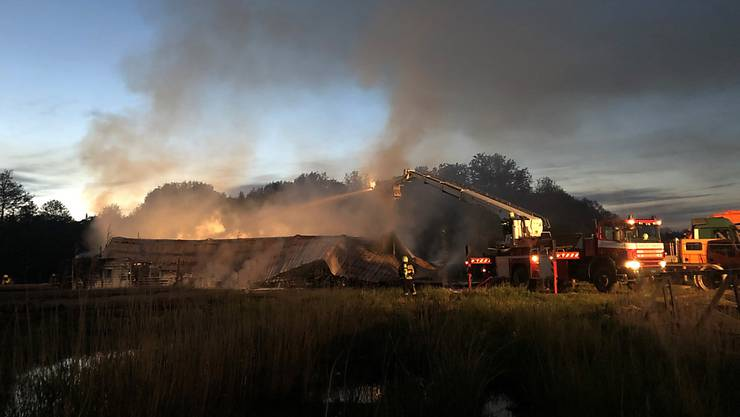 Im Kanton Freiburg ist am Montagabend eine Wasseraufbereitungsanlage durch einen Brand verstört worden.