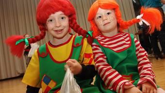 Kinder als Pippi verkleidet