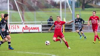 Sandro Streuli ist der neue Captain des FC Muri und bestreitet hier schon seine achte Saison.Fabio Baranzini