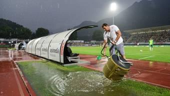 FC Lugano gegen FC St. Gallen abgebrochen.