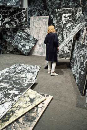 Galleria dello Scudo, Verona. Emilio Vedova, ...in continuum, 1987/88.