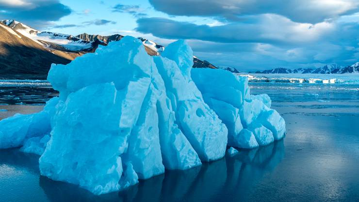 Der Klimawandel wird in dieser Gegend mit schönen Bildern zum Thema.