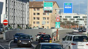Der Zubringer zum Bachgraben-Gebiet würde hier beim Luzernerring in Basel an die Nordtangente anknüpfen.