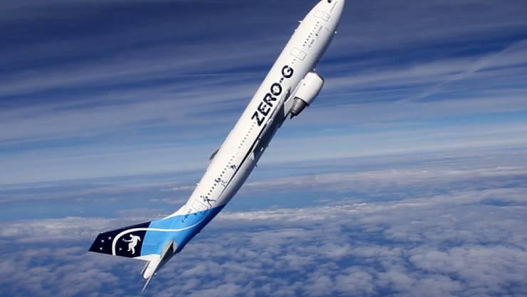 Während des Parabelflugs herrschte mehrmals für rund 22 Sekunden Schwerelosigkeit an Bord.