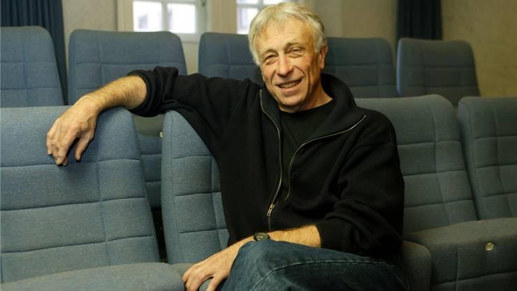 Urs Heller war als Leiter des Theaters Tuchlaube Gastgeber und Teamplayer. Das Bild entstand am 10. Dezember 2003, als er «sein» Theater verliess. André Albrecht