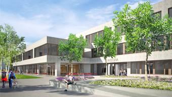 So soll der Eingangsbereich des neuen Integra-Hauptgebäudes aussehen. ZVG/Dorji Sigrist Architekten