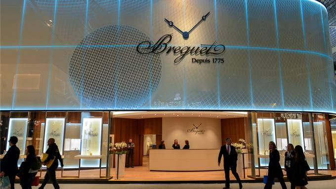 Luxus pur am Stand von Breguet an der Baselworld: Ein Ausstellungsstand von der Grösse eines Einfamilienhauses – der wohl auch ähnlich viel kostet.