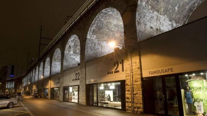Vorbild für Basel: Preisgünstiger Gewerberaum der gemeinnützigen Zürcher Stiftung PWG in den Viaduktbögen. Foto: Keystone