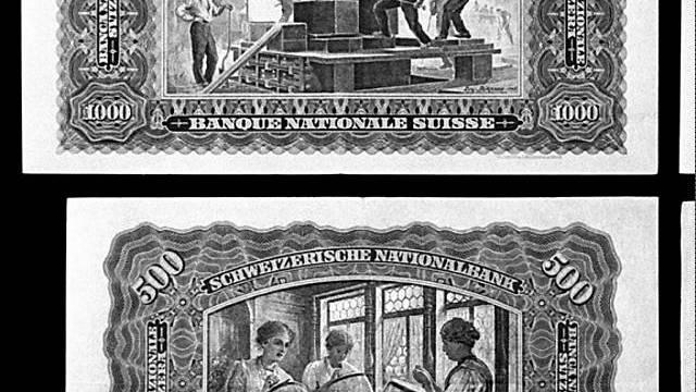 Motive auf der Rückseite von Banknoten zeigen Frauen im bäuerlichen Umfeld