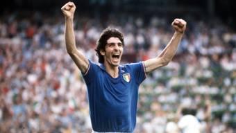 Paolo Rossi jubelt im WM-Final 1982 nach seinem Treffer zum 1:0.